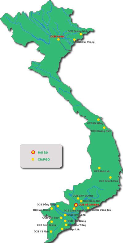 OCB Mạng lưới chi nhánh/Phòng giao dịch