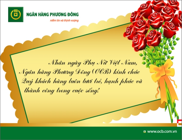 OCB chào mừng ngày Phụ nữ Việt Nam 20-10